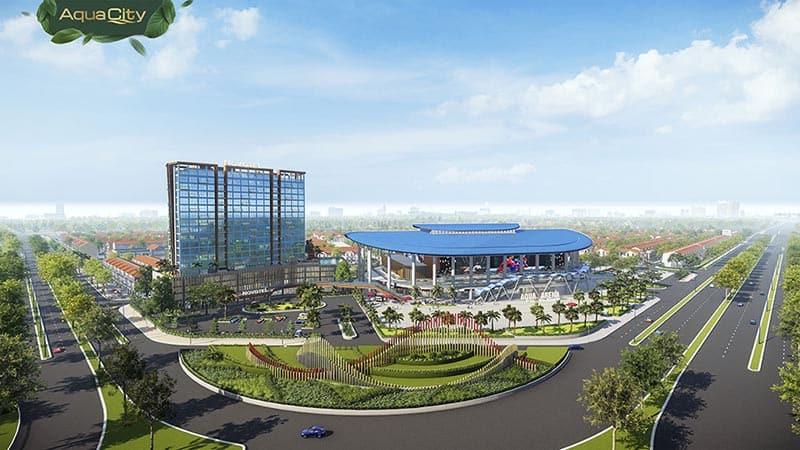 Khách sạn Novotel 4 sao và Aqua Arena sức chứa 11.000 người