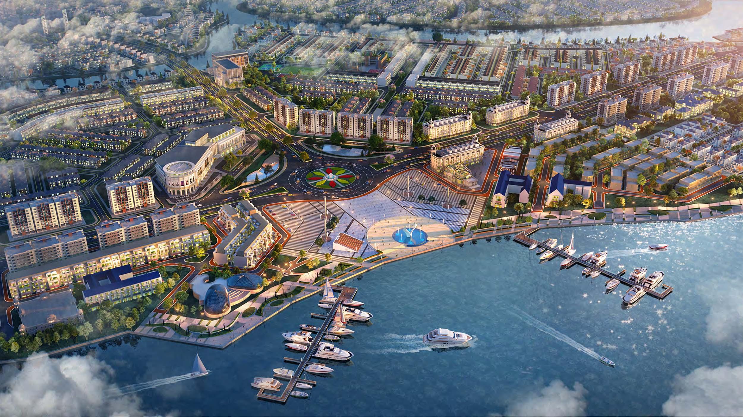 Quảng trường Aqua Marina - Aqua City